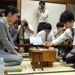 藤井聡太七段-里見香奈女流四冠